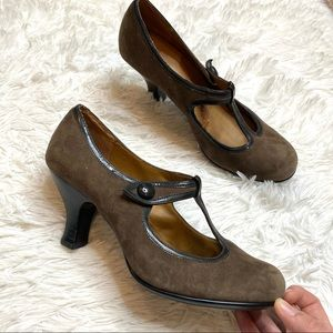 Sofft Mary Jane Suede Heels